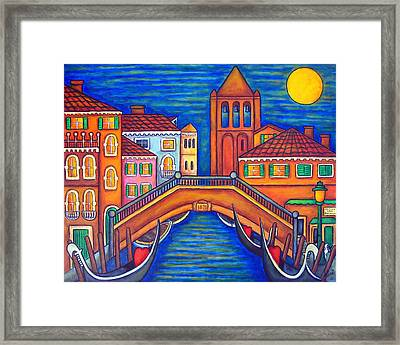 Moonlit San Barnaba Framed Print by Lisa  Lorenz