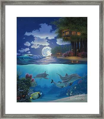 Moonlit Sanctuary Framed Print by Al Hogue