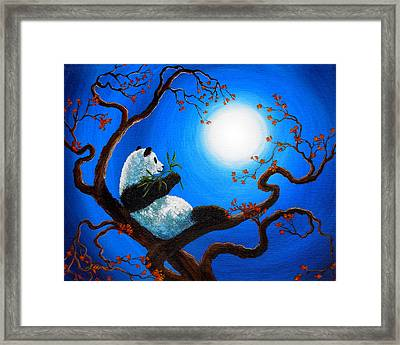 Moonlit Snack Framed Print by Laura Iverson