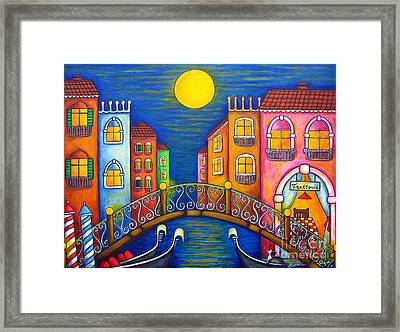 Moonlit Venice Framed Print by Lisa  Lorenz