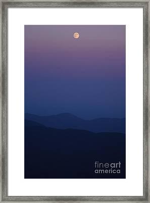 Moonrise - Mount Washington New Hampshire  Framed Print by Erin Paul Donovan