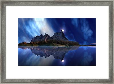 Moonrise Accension Island. Framed Print by David Jackson