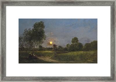 Moonrise Framed Print by Charles Francois Daubigny