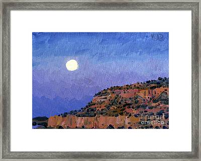 Moonrise Over Gallup Framed Print by Donald Maier