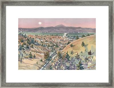 Moonrise Over San Mateo Framed Print by Donald Maier