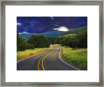 Moonrise Framed Print by Wendy J St Christopher