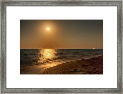 Moonscape Framed Print by John M Bailey