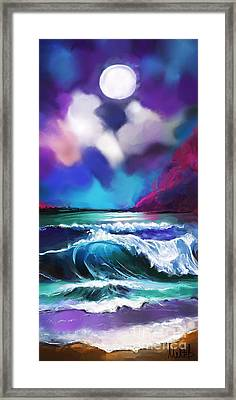 Moonscape Framed Print by Melanie D
