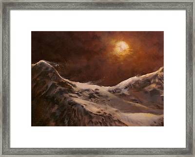 Moonscape Framed Print by Tom Shropshire