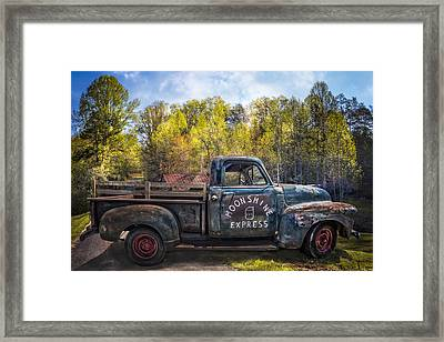 Moonshine In The Mountains Framed Print by Debra and Dave Vanderlaan