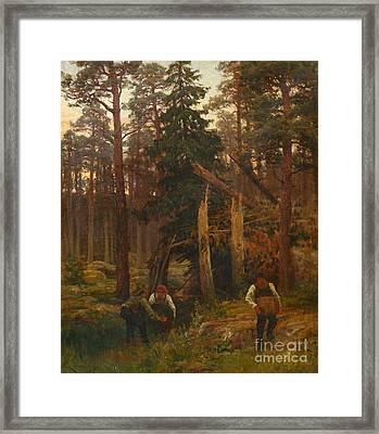 Moonshining In The Loviisa Archipelago Framed Print by Celestial Images