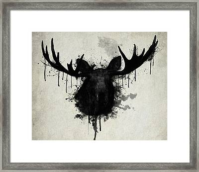 Moose Framed Print by Nicklas Gustafsson