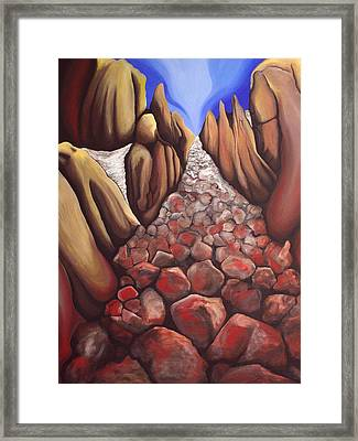 Moraine Framed Print by Bonnie Kelso