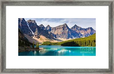 Moraine Lake Framed Print by Henk Meijer Photography