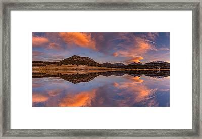 Moraine Park Sunset Pano Framed Print by Darren White