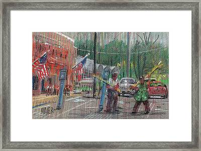 More Doing Framed Print by Donald Maier