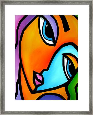 More Than Enough - Abstract Pop Art By Fidostudio Framed Print by Tom Fedro - Fidostudio