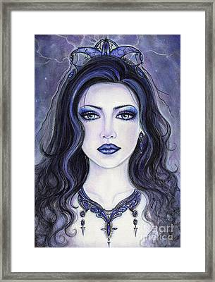 Morgan Le Fay Framed Print by Renee Lavoie