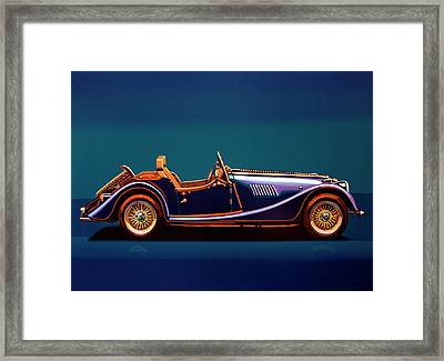 Morgan Roadster 2004 Painting Framed Print by Paul Meijering