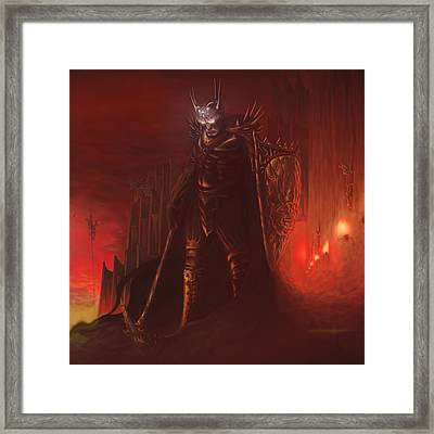 Morgoth In Angband Framed Print by Rick Ritchie