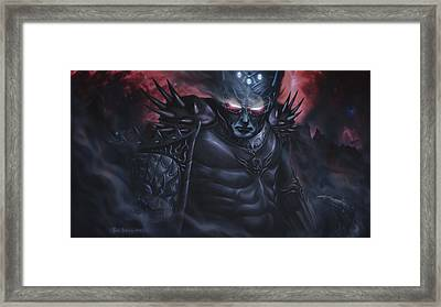 Morgoth  The Black Foe Framed Print by Rick Ritchie
