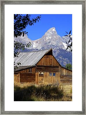 Mormon Row Barn  1 Framed Print by Marty Koch