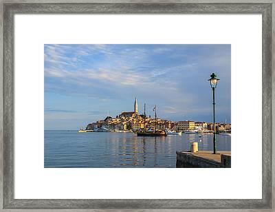 Morning Aquarelle In Rovinj Framed Print by Davorin Mance