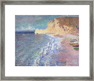 Morning At Etretat Framed Print by Claude Monet