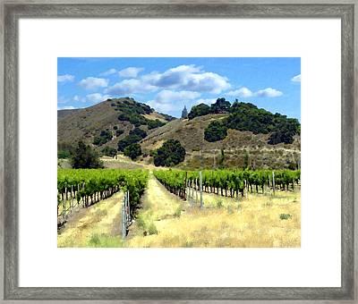 Morning At Mosby Vineyards Framed Print by Kurt Van Wagner