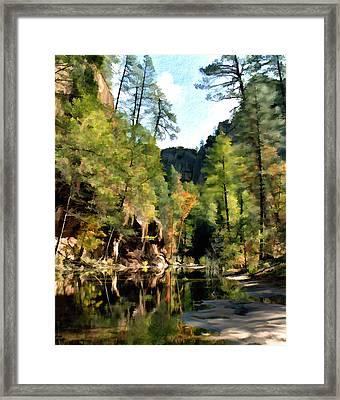 Morning At Oak Creek Arizona Framed Print by Kurt Van Wagner