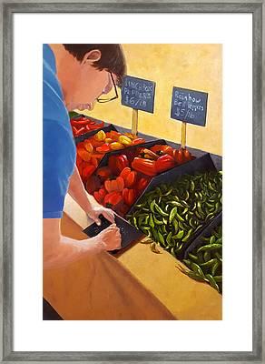 Morning At The Market Framed Print by Karyn Robinson