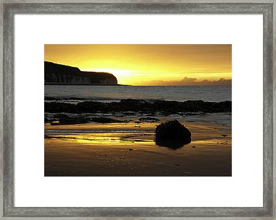 Morning Beach Framed Print by Svetlana Sewell