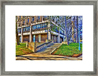 Morning Before Business Framed Print by Stephen Younts