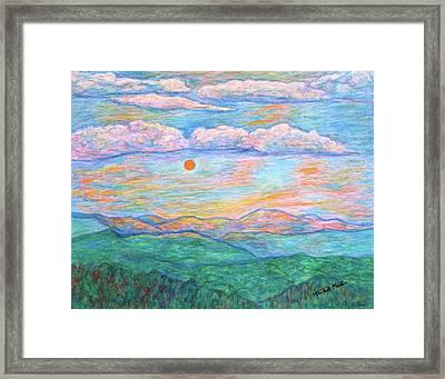Morning Color Dance Framed Print by Kendall Kessler