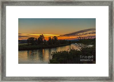 Morning Color Over The Payette River Framed Print by Robert Bales