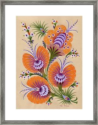 Morning Colors Framed Print by Olena Skytsiuk