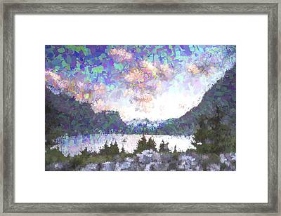 Morning Colors On The Lake II Framed Print by Jon Glaser