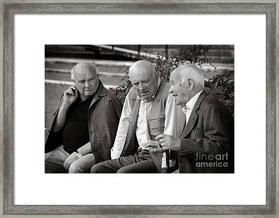 Morning Discussion Framed Print by Jim  Calarese