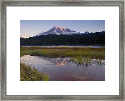 Morning Glow Framed Print by Mike  Dawson