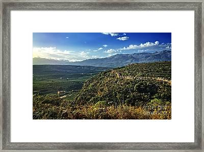 Morning In Crete Framed Print by HD Connelly