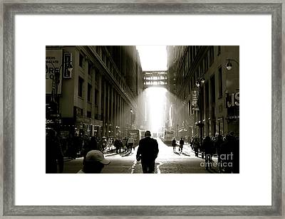 Morning In Manhattan Framed Print by Jerry Patterson