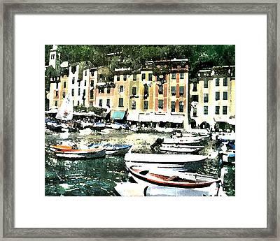 Morning In Portofino Framed Print by Donna Corless