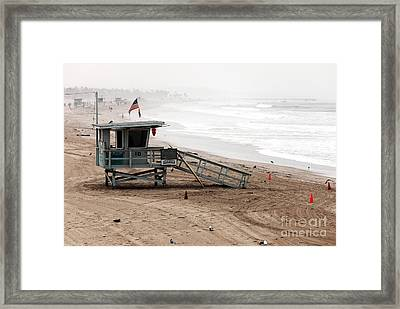 Morning In Santa Monica Framed Print by John Rizzuto