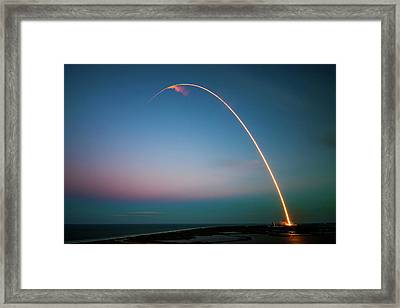 Morning Launch From Cape Canaveral  Framed Print by Mountain Dreams