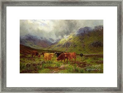 Morning Mists Framed Print by Louis Bosworth Hurt