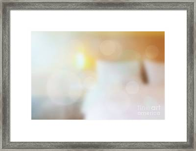 Morning On Bed Framed Print by Atiketta Sangasaeng