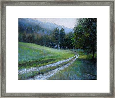 Morning On Blue Mountain Road Framed Print by Susan Jenkins