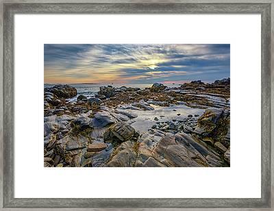 Morning On Casco Bay Framed Print by Rick Berk