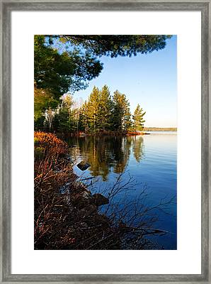 Morning On Chad Lake 4 Framed Print by Larry Ricker