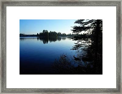 Morning On Chad Lake Framed Print by Larry Ricker